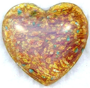 17mm Heart Shape in Fire Opal Color