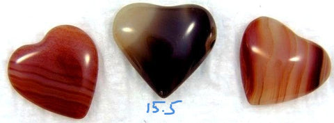 14mm - 15.5mm Heart Shape Natural Agates