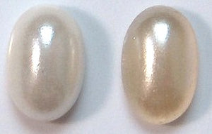 6x4mm Imitation Pearl Oval Cabochons