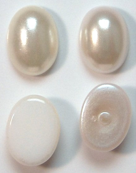 8x6mm Imitation Pearl Oval Cabochons