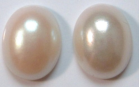 10x8mm Imitation Pearl Oval Cabochons