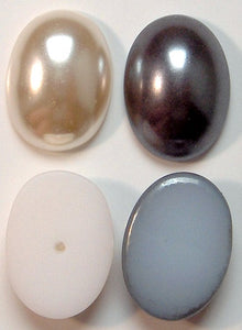 18x13mm Imitation Pearl Oval Cabochons