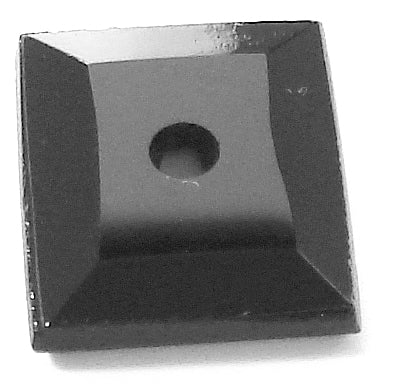 12x10mm Black OnyxFlat Top Special Cut Cushion w/2mm hole w/slot