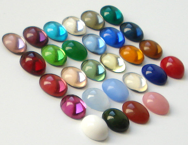 12x10mm (2195) Glass Oval Cabochon