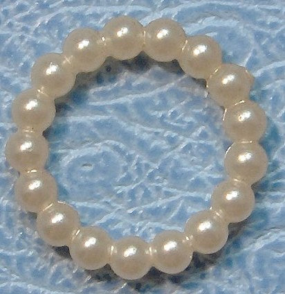 11mm Round Imitation Pearl Rings