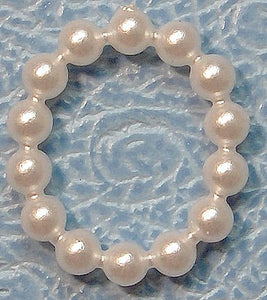 11.5x9mm Oval Imitation Pearl Rings