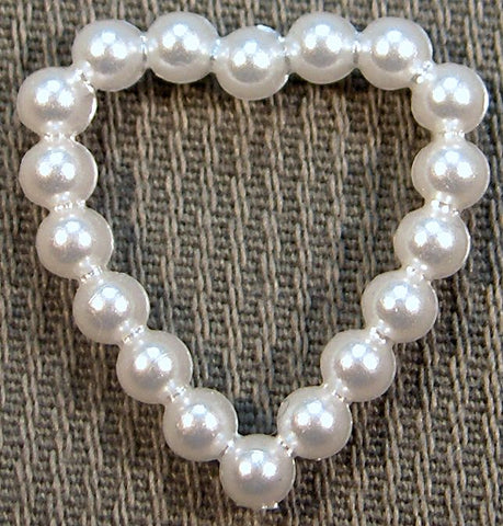15.5x15mm Heart Shape Imitation Pearl Rings