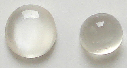 6-7mm Round Natural White Moonstone Cabs