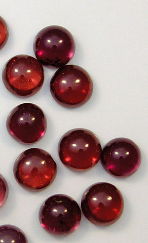 5mm Round Cabochon Natural Garnets