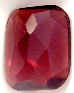 12x9mm Rose Cut Cushion Garnet
