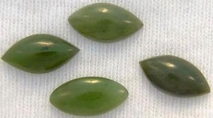 12x6mm Marquise Cabochon Nephrite Jade
