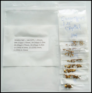 1.25-6.25mm Crystal Sparkles #2 Kit (390 Rhinestones)