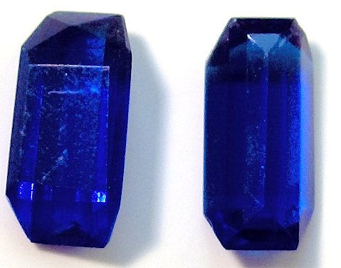 12x6mm Angled Baguettes in Cobolt Blue