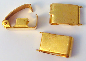 9mm Brass Fold Over Clasps