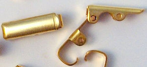11x4mm Gold Plated Fold Over Clasps
