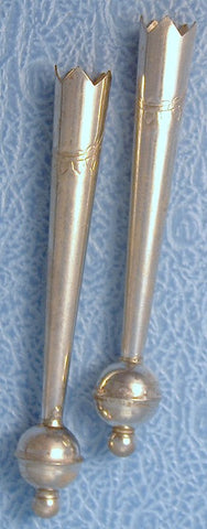 1 3/4 inch Sterling Silver Bolo Tips (pair)