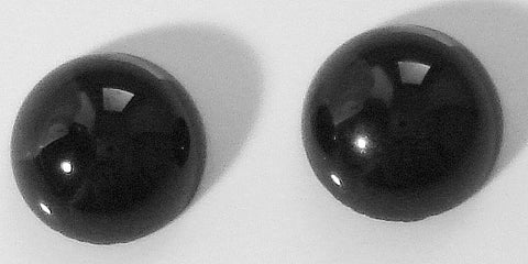 8mm Black Onyx Round Cabochons