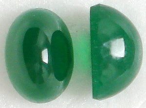 14x10mm (1685) Oval Cabochons (High Dome) CHRYSOPHASE
