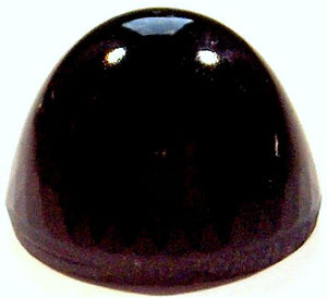 20mm (2099/4) HIGH dome Round Cabochon (Jet Black)