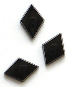 10x7mm Diamond Shape Buff Top Black Onyx