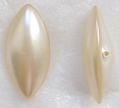 15x7mm Imitation Pearl Marquise Buff top Doublets