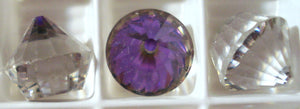 12mm Cup Cake Shape Specialty Heliotrope Stones
