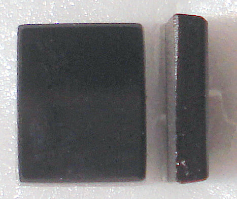 10x8mm Flat Top Cushion Black Onyx