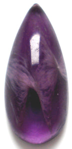 14x6mm flawed amethyst glass pear shape cabs