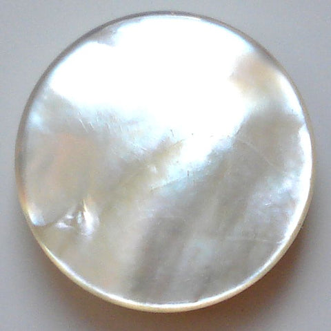 9mm round Mother of Pearl Flat discs