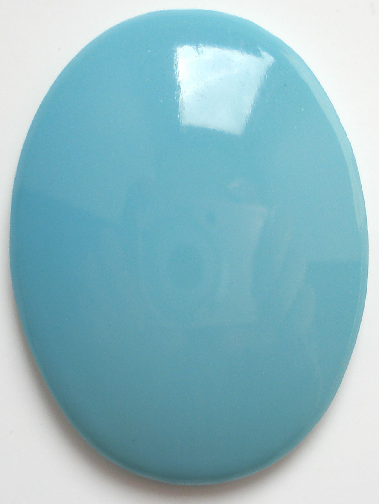 40x30mm (2195) Glass Turquoise Blue/Green Oval Cabs
