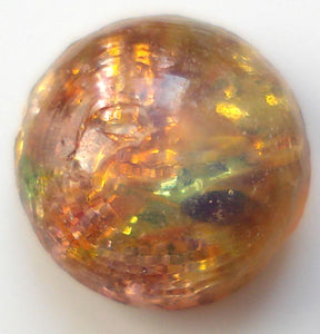 7.0MM Glass Round Fire Opal Cabochons