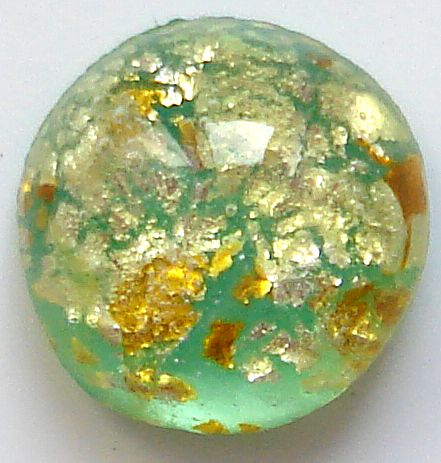 7.0mm ROUND GLASS CABS IN LT GREEN OPAL