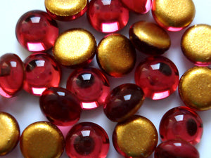 4.0mm (2194) CZ ROSE COLOR ROUND CABOCHONS