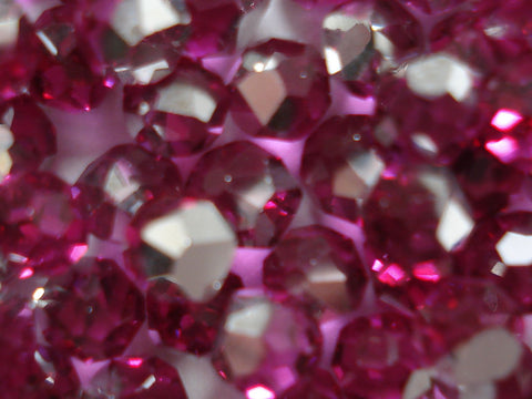6mm (4860) SWAR 3/4 CUT FACETED BALLS IN FUCHSIA