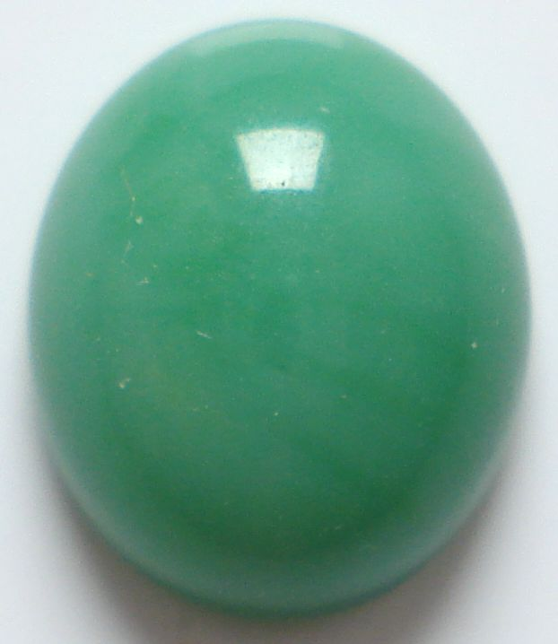 12x10mm (2195) GLASS OVAL CABS IN JADE COLOR
