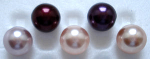 6mm One Hole (Half Drilled) Round Imitation Pearls