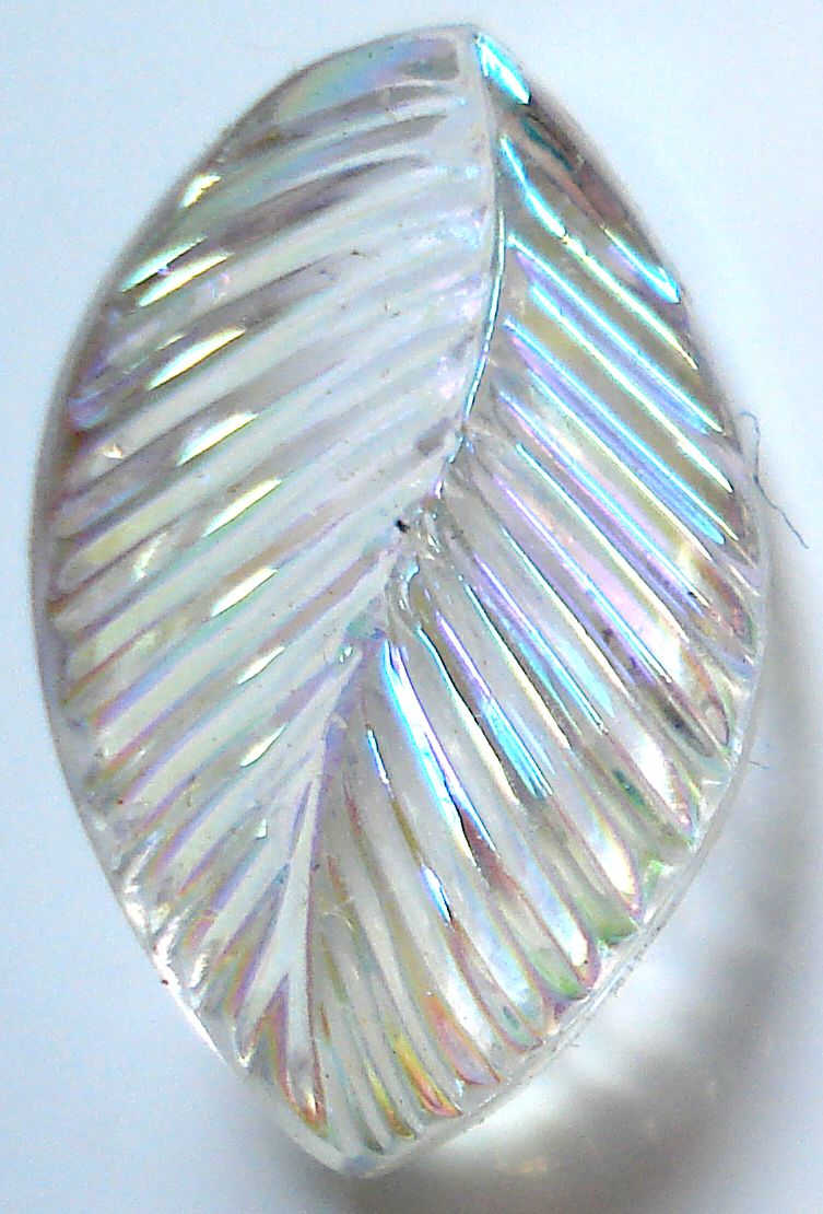 19X11MM CRYSTAL AB FANCY CURVED LEAVES