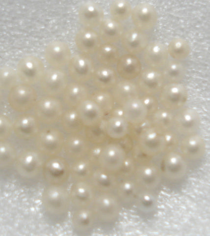 1-1.5mm NATURAL ROUND UNDRILLED SEED PEARLS