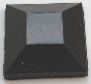 10mm ROSE CUT SQUARES IN JET BLACK (acrylic)