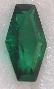 6x3mm COFFIN SHAPE IN UNFOILED EMERALD