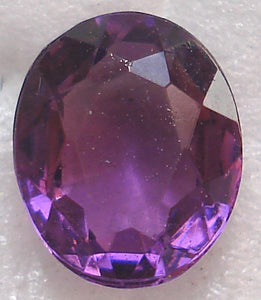 7x6mm (4130/2) OVALS IN UNFOILED AMETHYST