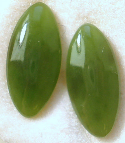 15X7MM NEPHRITE JADE MARQUISE CABOCHONS