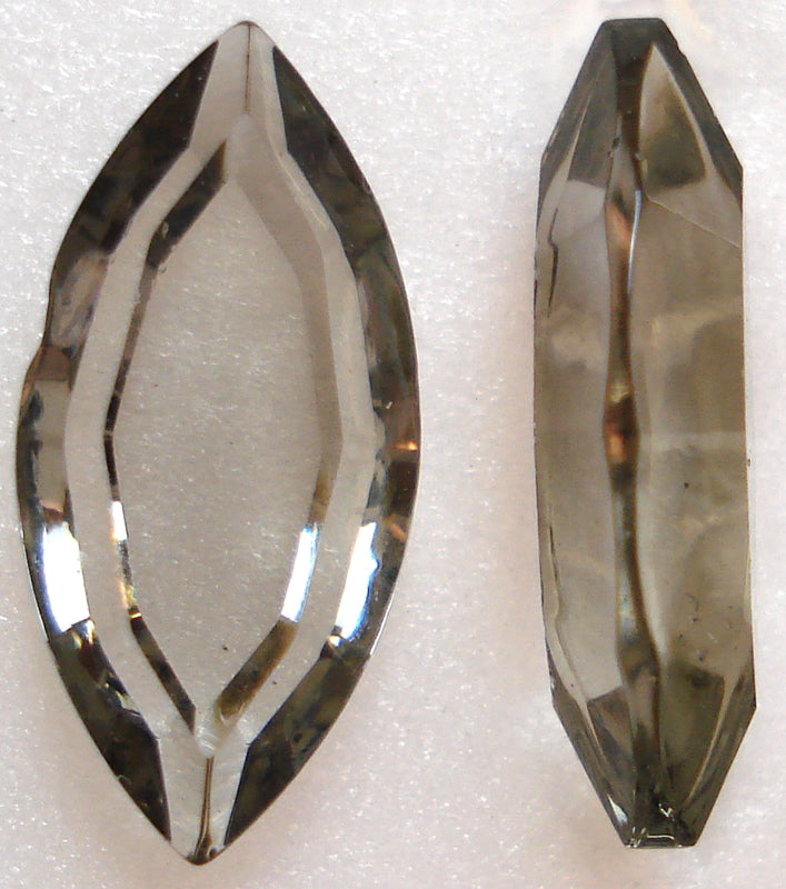 15X7MM BLACK DIAMOND CHANNELLE CUT MARQUISES
