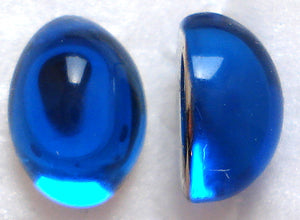 8X6MM ACRYLIC OVAL HIGH DOME SAPPHIRE CABS