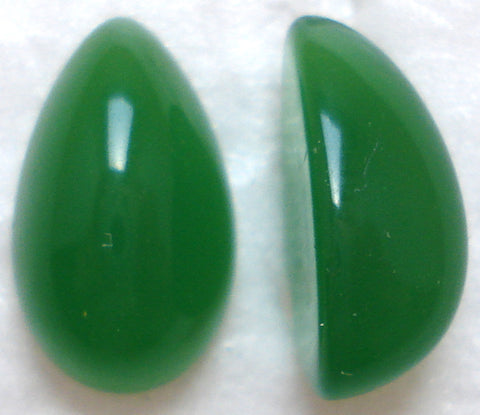 13X8MM ACRYLIC PEAR HIGH DOME CHRYSOPHASE CABS