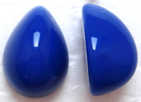 18X13MM ACRYLIC PEAR HIGH DOME OPAQUE NAVY CABS