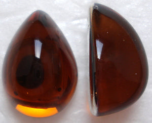 18X13MM ACRYLIC PEAR HIGH DOME TOPAZ CABS