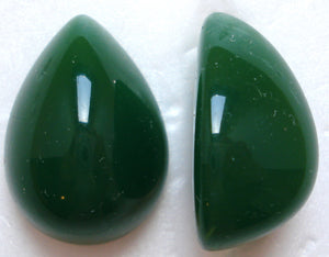 25X18MM ACRYLIC PEAR HIGH DOME JADE CABOCHONS