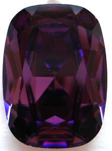 18X13MM (4570) AMETHYST COLOR ANTIQUE CUSHION