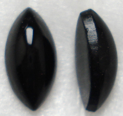 10X5MM JET BLACK MARQUISE CABOCHONS